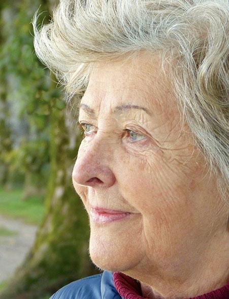dieses Foto zeigt eine ältere Frau