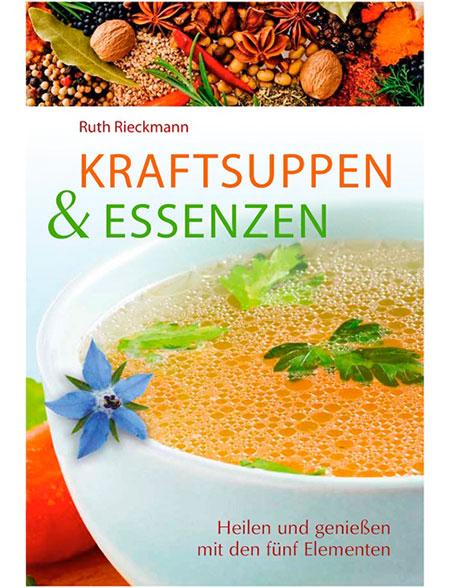 dieses Foto zeigt das Cover vom Buch Kraftsuppen & Essenzen